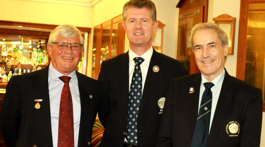 Fulford Captain, Mr Ian Bainbridge, YUGC President, Mr Jonathan Plaxton and YUGC County Members Secretary, Mr Paul Yates