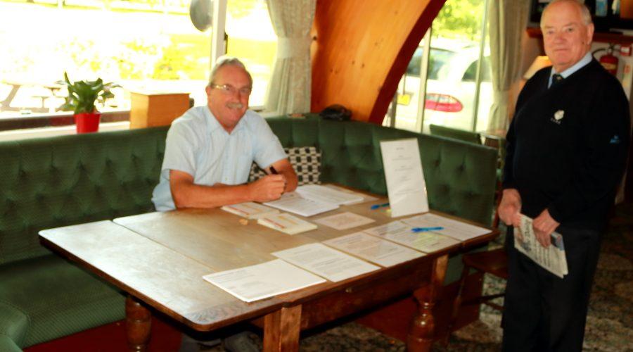 Yorkshire Union Officials on the registration desk