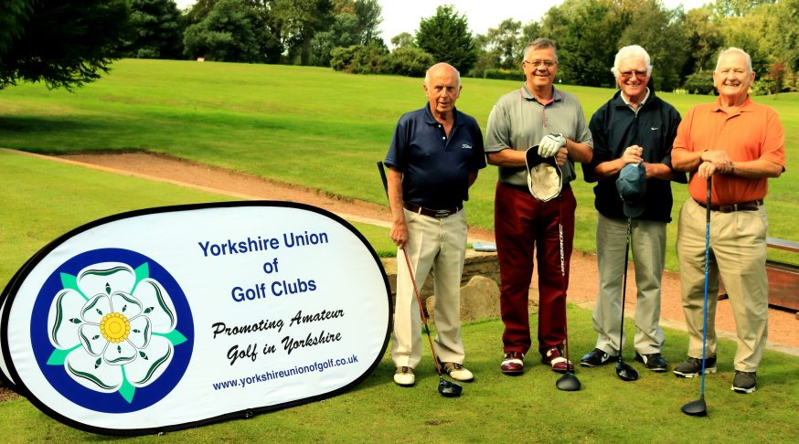 Messrs Slater, Moore, Boardman and Alford on the first tee