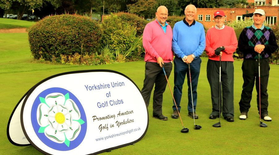 Messrs Wilkins, Clapham, Leather & Wilcox on the first tee