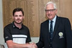 Best First round score, Daniel Thomas from Shipley GC
