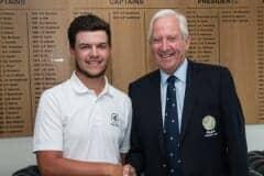 Winning 36 hole score, Sam Bairstow from Hallowes GC
