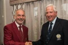 YUGC President with Keith Potts, captain of Malton & Norton GC
