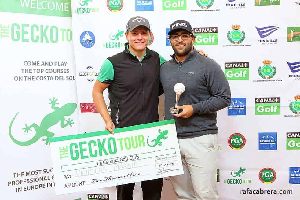 Nick Marsh runner up on the Gecko Tour