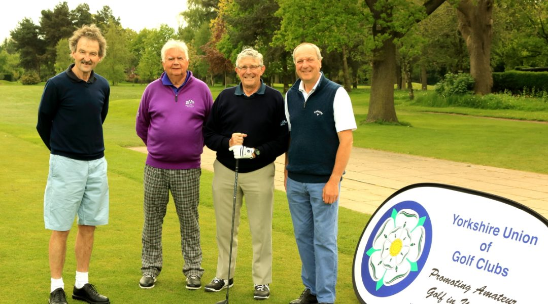 Messrs O'Connor, Atkinson, Marsden and Earp on the tee