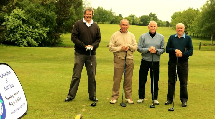 Messrs Copper, Kelly, Spencer, Randerson on the first tee