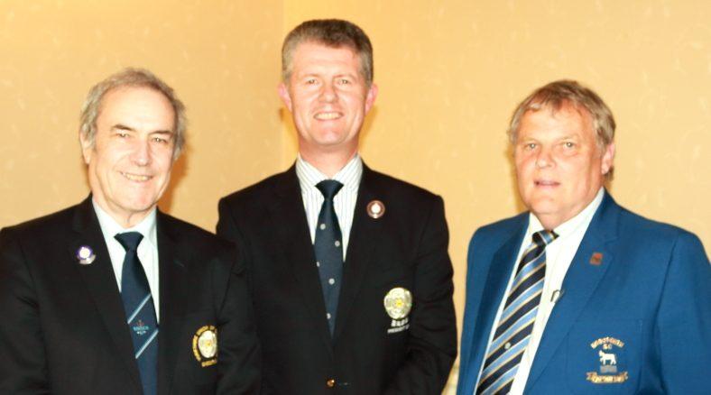 THe YUGC County Members' Secretary, Paul Yates, YUGC President, Jonathan Plaxton and Horsforth Captain, Mike Allan