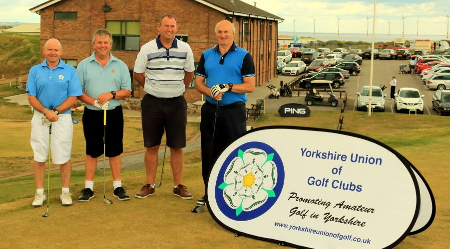 Messrs Taylor, Coverdale, Edwards and Summersgill on the first tee