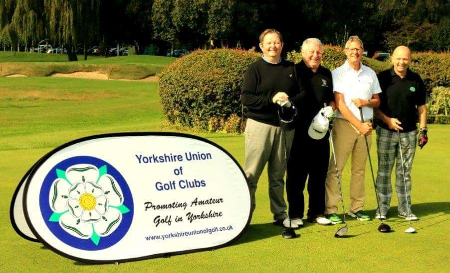 Messrs Hodges, Waddington, Spear and Johnson on the first tee