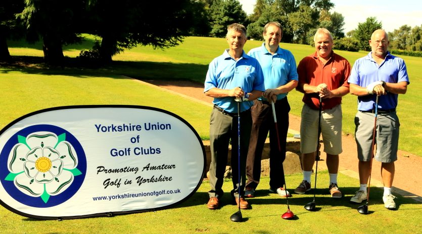 Messrs Johnson, Brierley, Wilkins and Barret on the first tee